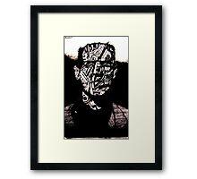 Monster #3 (Drawn on hangul Korean caligraphy paper) Framed Print
