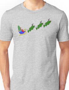 "Santa and his ""Bass Deer"" Unisex T-Shirt"