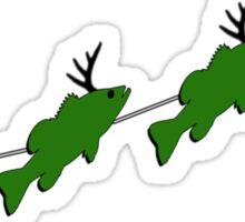 "Santa and his ""Bass Deer"" Sticker"