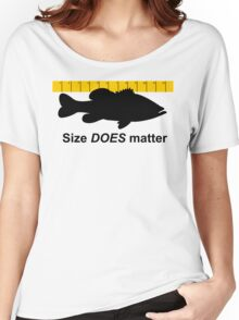 Size does matter - fishing T-shirt Women's Relaxed Fit T-Shirt