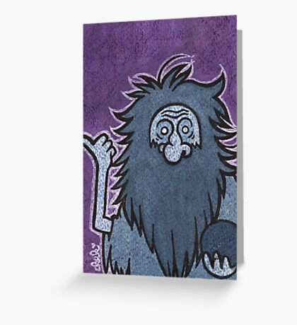 Gus - Hitchhiking Ghost - The Haunted Mansion Greeting Card