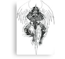 Demon lord .Created 2004 on cartridge paper  Canvas Print