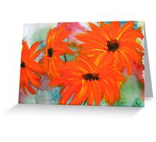 Tropic Flowers Greeting Card