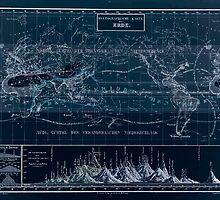 Atlas zu Alex V Humbolt's Cosmos 1851 0160 Histographic Map of the Earth Inverted by wetdryvac