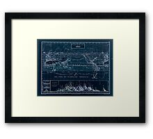 Atlas zu Alex V Humbolt's Cosmos 1851 0160 Histographic Map of the Earth Inverted Framed Print