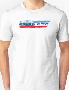 Grungy E30 front end with E30 badge in M colors Unisex T-Shirt