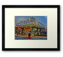 Midway Steak House Framed Print