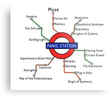 Panic Station Underground Map Metal Print