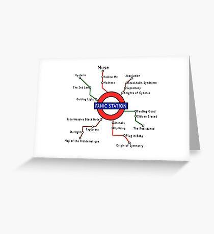 Panic Station Underground Map Greeting Card