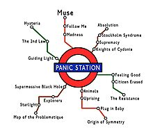 Panic Station Underground Map Photographic Print