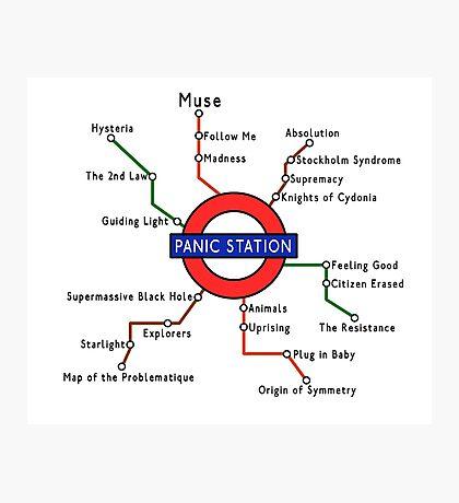 Panic Station Underground Map Photographic Print