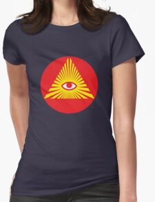 All Seeing Eye, Illuminati Womens Fitted T-Shirt
