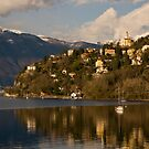 The Lago Maggiore, near the Swiss border by Michael Brewer