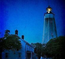 The Sandy Hook Lighthouse at Twilight by Debra Fedchin