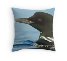 Common Loon portrait Throw Pillow