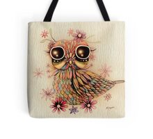 little flower owl Tote Bag