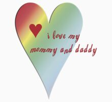 I Love Mommy and Daddy Baby Tee