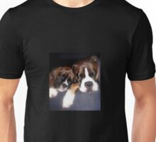 Two Dogs Dreaming........ -Boxer Dogs Series- Unisex T-Shirt