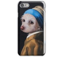 The Dog with the Pearl Earring (Full Painting) iPhone Case/Skin