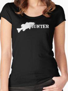 Bass Hunter - Bass fishing t-shirt Women's Fitted Scoop T-Shirt