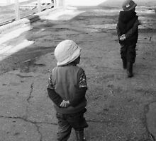 Following in Brothers Footsteps Down on the Farm by MichelleRees