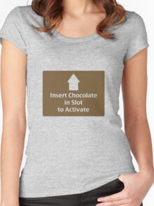 Chocolate in Slot Women's Fitted Scoop T-Shirt