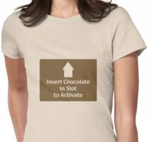 Chocolate in Slot Womens Fitted T-Shirt