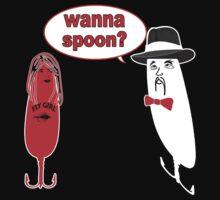 Wanna Spoon - Fishing Tshirt by Marcia Rubin