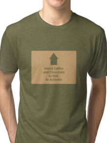 Coffee and Chocolate in Slot Tri-blend T-Shirt