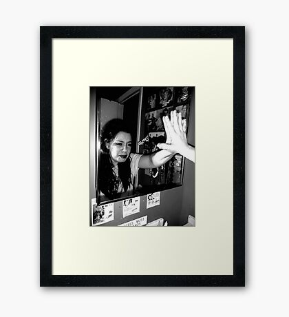 mirror mirror do not see, all the awful things I have in me.  Framed Print