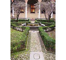 Leonardo's Garden - Leonardo DaVinci Museum, Milan Photographic Print