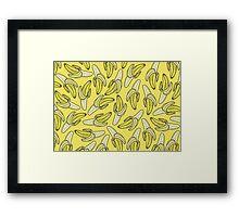 BANANA - YELLOW Framed Print