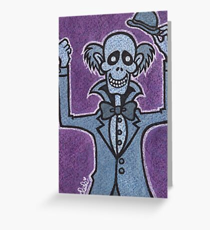 Ezra - Hitchiking Ghost - The Haunted Mansion Greeting Card