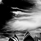 Sydney Opera House with sky by Sheila  Smart