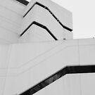 architectural # 10 - black strips on white by fabio piretti