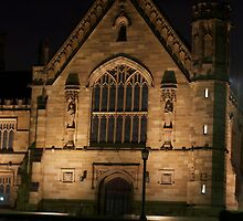 Sydney University Great Hall at Night by jhea5333