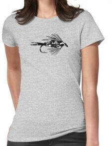 Black Camo Fly - Fly fishing t-shirt Womens Fitted T-Shirt