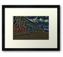 Art On The Bridge Framed Print
