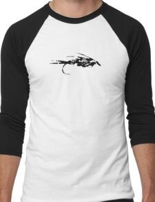 Black Camo Fly - Fly fishing t-shirt Men's Baseball ¾ T-Shirt