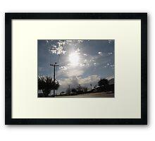 sun shining through Framed Print