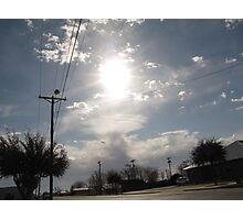 sun shining through Photographic Print