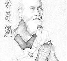 Aikido's Founder, Morihei Ueshiba by vihilidal