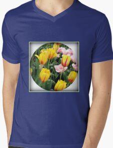 ' La Courtine' Tulips - Keukenhof Gardens Mens V-Neck T-Shirt