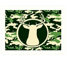 Trophy Camo Buck Art Print