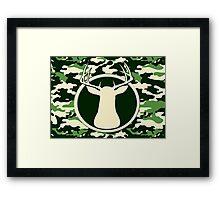Trophy Camo Buck Framed Print