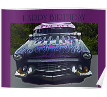 Happy Birthday Car Poster
