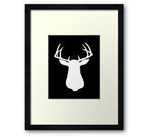 Beautiful Buck Silhouette Framed Print