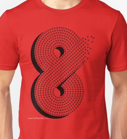 T-Shirt 8/85 (Public Office) by Yuji Sekiya Unisex T-Shirt