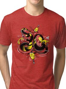 T-Shirt 30/85 (Workplace) by Luca Ionescu Tri-blend T-Shirt