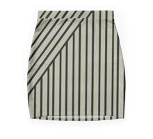 Military Inspired Stripes on Dust Fashion Mini Skirt